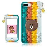 STSNano Bubble Bear Case Cover Silicone Fidget for iPhone 6