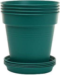 Mintra Home Garden Pots 4pk (Forest Green, 17cm Diameter (6.6in))