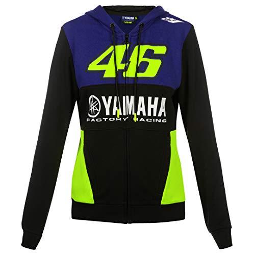 2019 Valentino Rossi VR46 Damen Kapuzenpullover für Mädchen Yamaha Factory Racing, blau, Womens (L) 92cm/36 Inch Chest