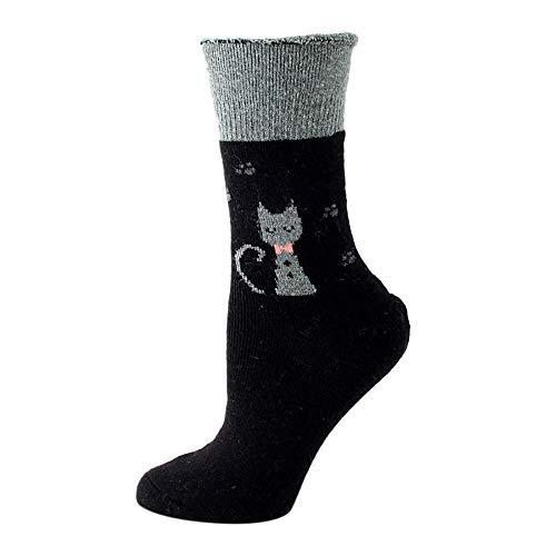 TIGERROSA dames outdoor sokken 2019 tekenentrickfiguur grappig aangepaste cartoon vrouwen sokken Harajuku grappig skateboard schattig patroon fashion female katoen sox zwart