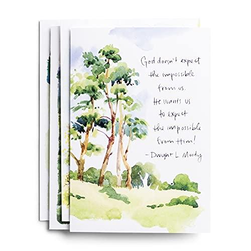 DaySpring - Praying for You - Versão King James - Citações clássicas - 4 designs sortidos com escrituras (12 cartões e envelopes em caixa) (81840)
