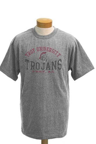NCAA T-Shirt Troy State Trojans Saunders Short Sleeve, Herren, Athletic Heathered Grey, Large