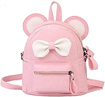 Bizarre Vogue Bow knot Small PU Backpack for Girls (Baby Pink,BV1256)