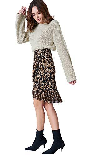 NA-KD Strickpullis gibt es in tollen Looks und zu günstigen Preisen | Kuscheliger Pullover mit Rundhalsausschnitt und Langen Glockenärmeln in verschiedenen Farbnuancen erhältlich
