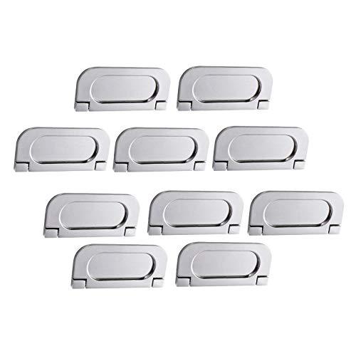 litulituhallo 10 tiradores invisibles horizontales para gabinete de cocina de acero plateado 64 mm