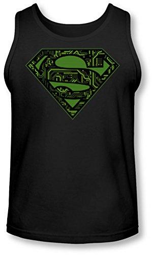 Superman - - Les circuits pour hommes Shield Tank-Top, Medium, Black