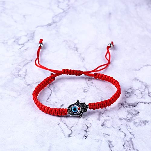 Wusuowei Türkisch Böser Augenschutz Kabbala Rote Schnur Armbänder Fatima Handschmuck