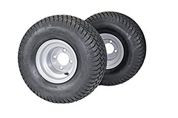 Set of 2  20x10.00-8 Tires & Wheels 4 Ply for Lawn & Garden Mower Turf Tires