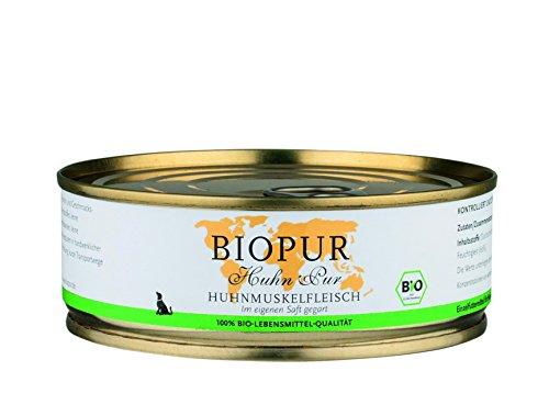 Biopur Bio hondenvoer gevogelte spieren vlees, 200 g