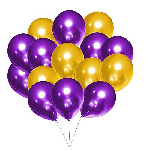 60Pcs Purple and Gold Balloons Set …