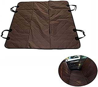 "Bloodyrippa Dog Car Seats Cover with Hammock, Waterproof Fabric, Built-in Non-Slip Backing, Fits Most of Standard Cars, Trucks, SUV, 58""x54"", Brown"