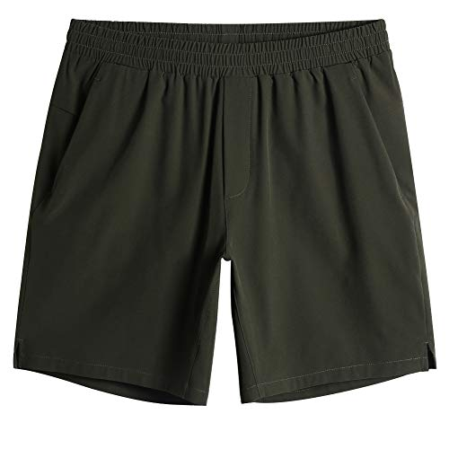 MaaMgic Mens Quick Dry Solid 4 Way Stretch Swim Trunks with Mesh Lining Swimwear Bathing Suits