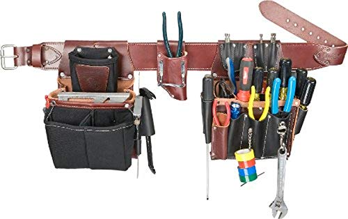 Electrician/'s Comfort Lift Combo Tool Belt w// 28 Pockets and Drill Holder New