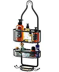 STYLISH SHOWER CADDY: With tiered design, you can easily find a proper place for organizing bath accessories like shampoo, conditioner, body wash, soap. Modern style baskets great for master bathroom, kid's bathroom and guest bathroom RUST-RESISTANT:...