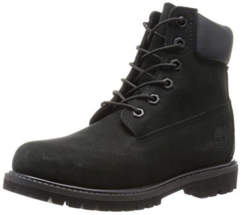 """Timberland Women's 6"""" Premium Boot Black Nubuck 9 B - Medium"""