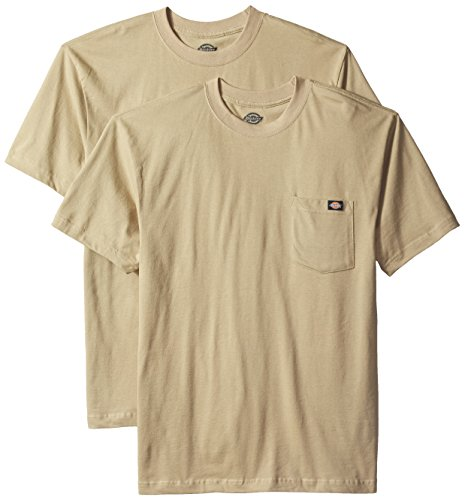 Dickies Men's Short Sleeve Pocket T-Shirt 2-Pack, Desert Sand, X-Large