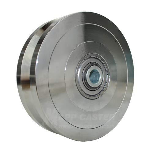 "Powered Sliding Gate V Groove Wheel 6"" x 1-3/4"" - 5000 lbs Capacity -Mapp Caster"