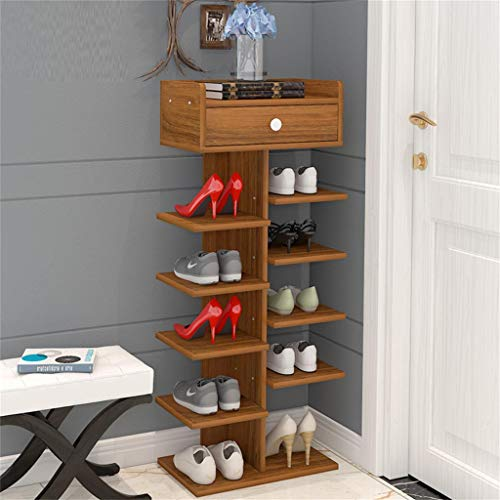 Chaussure Armoire à Armoire à Armoire de Rangement Simple et Multi-Niveau pour Le ménage Armoire-Porche Armoire de Rangement Multi-Fonction à Poser (Couleur : Wood)