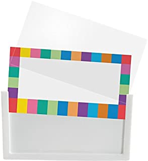 Really Good Stuff 157679 Universal Basket and Bin Label Holders with Labels, Assorted