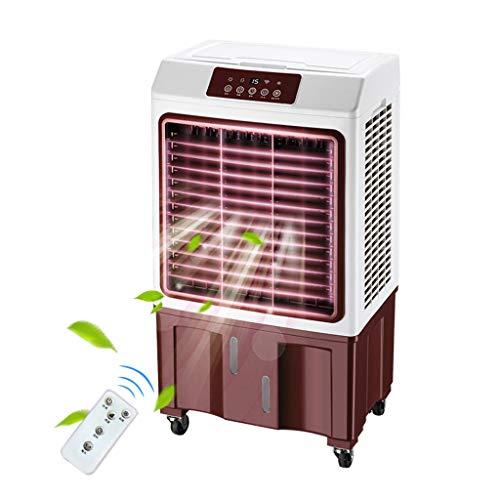 Air-conditioning fan-Jack Mobile Klimageräte mit 35L Wassertank,10 Timer Luftbefeuchter Luftkühler inkl Räder und Fernbedienung,3 Geschwindigkeitseinstellungen für Häuser, Büros, Fernbedienung