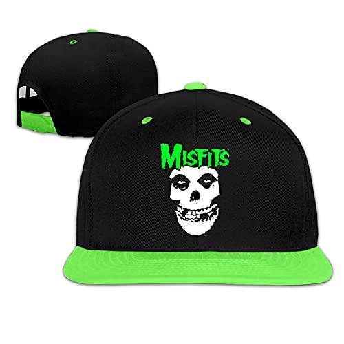 Funny Club Niños Snapback Cap Misfits Hat Flat Peak Hat Gorra de béisbol para niño niña