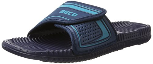 BECO Beermann GmbH & Co. KG Herren Massagefußbett-90601 Pantoletten, Blau (Marine/Blau 76), 45 EU