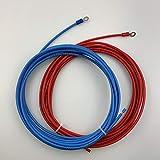 チャージコントローラー⇔バッテリー間 接続ケーブル 2m*2本 4sq 丸型端子タイプ