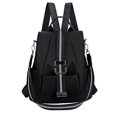 BARUYO dames mode waterdichte anti-diefstal schoolrugzak, lichte reistas van Oxford-stof, schattige meisjes, stijlvolle rugzak handtassen dagrugzak 11,4 x 4,7 x 12,6 zwart