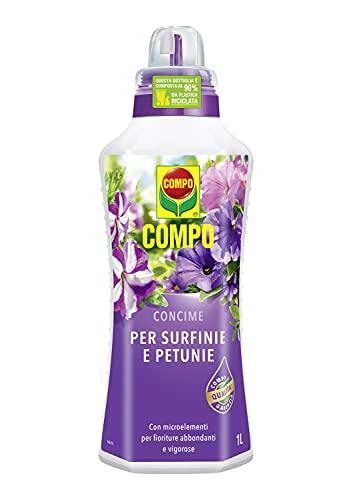 COMPO El estiércol líquido para surfinie y petunias 1Lt Huerta y Jardín