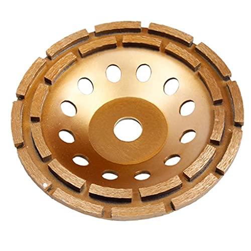 Copa hormigón Muela abrasiva doble fila 230mm Diamond Grinder Piedra Pulido Accesorios para discos para el hogar Productos Industriales