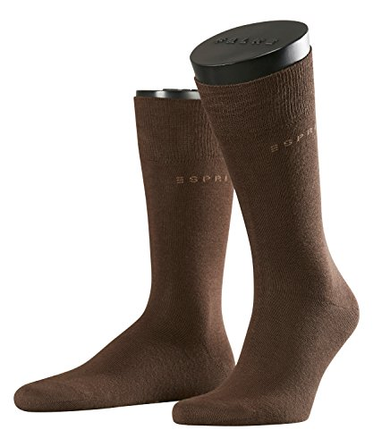 ESPRIT Herren Socken Basic Uni 2-Pack, Baumwolle, 2er Pack, Braun (Dark Brown 5230), 43-46 (UK 8.5-11 Ι US 9.5-12)