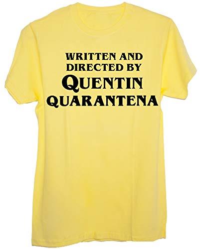 New Indastria T-Shirt Scritto e Diretto da Quentin Quarantena regia Tarantino-Divertenti-Uomo-L-Gialla