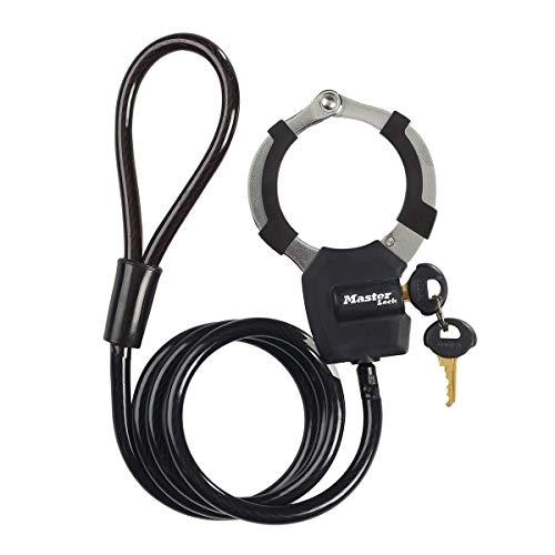 MASTER LOCK Kabelschloss mit Schlüssel [Kabel 1m] 8275EURDPROBLK – Ideal für Scooter Roller, Fahrrad, Kinderwagen, Sportausrüstung