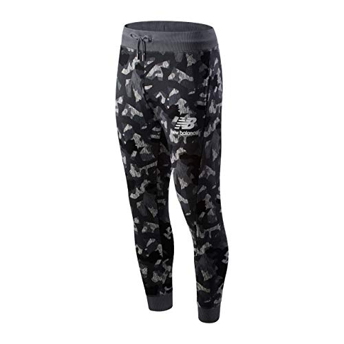 New Balance Sport Bekleidung Printed Essentials Stacked Logo Sweatpant 743330-60-12 / MP93521 grau 766641