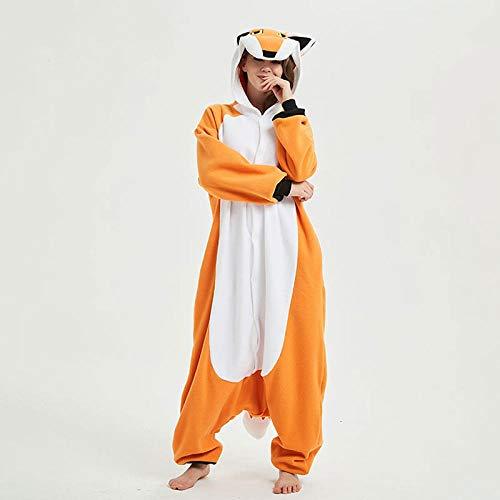 HNBY Frauen Männer Erwachsene Paare Anime Body Festival-Partei-Leistung Tierfox Pajama Polar Fleece-Pyjamas XL (Color : Nick Fox, Size : XL)