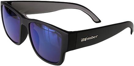 Bomber Floating Eyewear Sunglasses - Gomer Bomb Matte Black Frm / Blue Mirror Pc Lens / Gray Foam