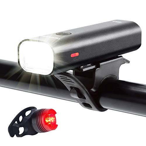 Set Fanali per Bici Ricaricabile USB, Durata 5+ Ore 400...
