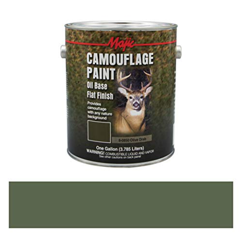 Majic Paints 8-0850-1 Camouflage Paint, 1-Gallon, Olive Drab