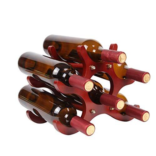 Porte bouteille Casier À Vin Présentoir À Vin En Bois 26 * 16.5 * 21.5cm Étagère de rangement