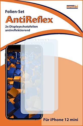 mumbi Schutzfolie kompatibel mit iPhone 12 Mini Folie matt, Bildschirmschutzfolie (2X)