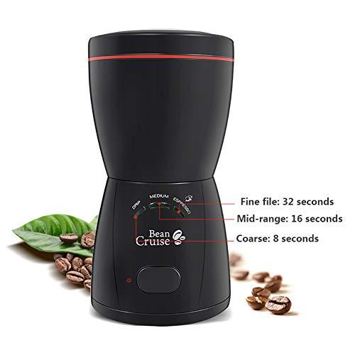 No Molinillo de Cafe electrico,Potente Molinillos de Especias,fácil de operar Molinillo Compacto de café,Polvo Fino para Granos de Café Nueces Especias Cereales 200ML