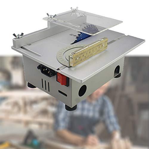 Enwebalay Multifuncional Mini Sierra Mesa Eléctrica,Corte Pulido Talla,Máquina Potente Motor,Ajuste 7 Velocidades,Espesor Corte 0-29 Mm para Plástico, Metal Blando,C