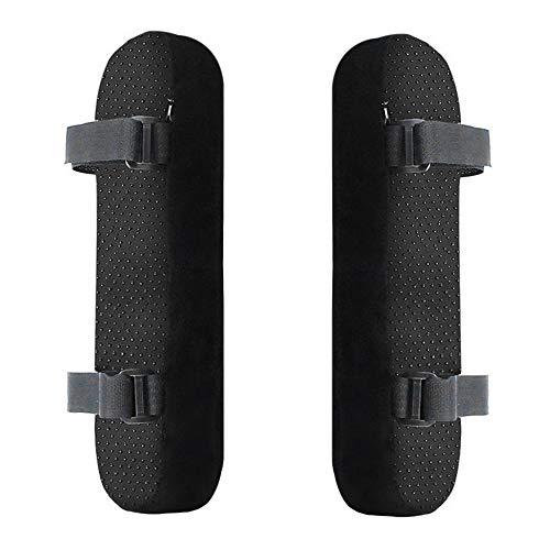 2 Almohadillas para reposabrazos de Silla, Espuma viscoelástica Ultra Suave, Soporte para Codo, Ajuste Universal para Silla de hogar u Oficina para Alivio del Codo (Negro)
