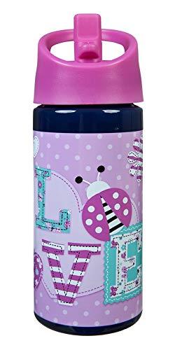Scooli Lady Bug Aero Trinkflasche für Mädchen 400ml I Wasserflasche für Kinder, rosa