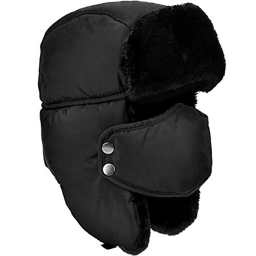 Unisex Winter Warm Hat with Ear Flaps, Trapper Hat Faux Fur Aviator Hat – Ice Skating Skiing, and Other Outdoor Activities