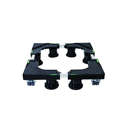 Base Lavadora Ajustable Largo 48.2-60cm Ancho 44-53.5cm Carro para Secadoras con 4 Ruedas y Freno De Pie Lavadora Universal Base Antideslizante De AbsorcióN De Golpes - 350kg