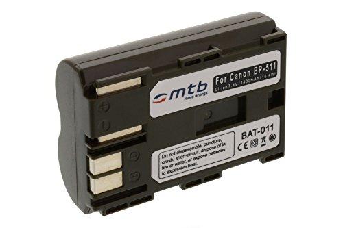 Batería BP-511 para Canon EOS 300D, D30, D60, Digital Rebel