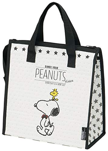Skater Insulated Lunch Bag Snoopy monochrome PEANUTS FBC1
