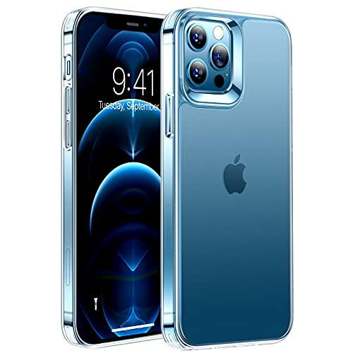 TORRAS Mist Series iPhone 12/12 Pro Hülle [Anti-Fingerabdrücke] Vergilbungsfrei Transluzent Neueste Matte Rückplatte [Anti-Fettflecke] Dünn Unzerstörbare Hülle iPhone 12/12 Pro - Leicht Transparent