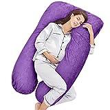 Honest Outfitters U Shaped Pregnancy Pillow, Full Body Maternity Pillow with Velvet Cover